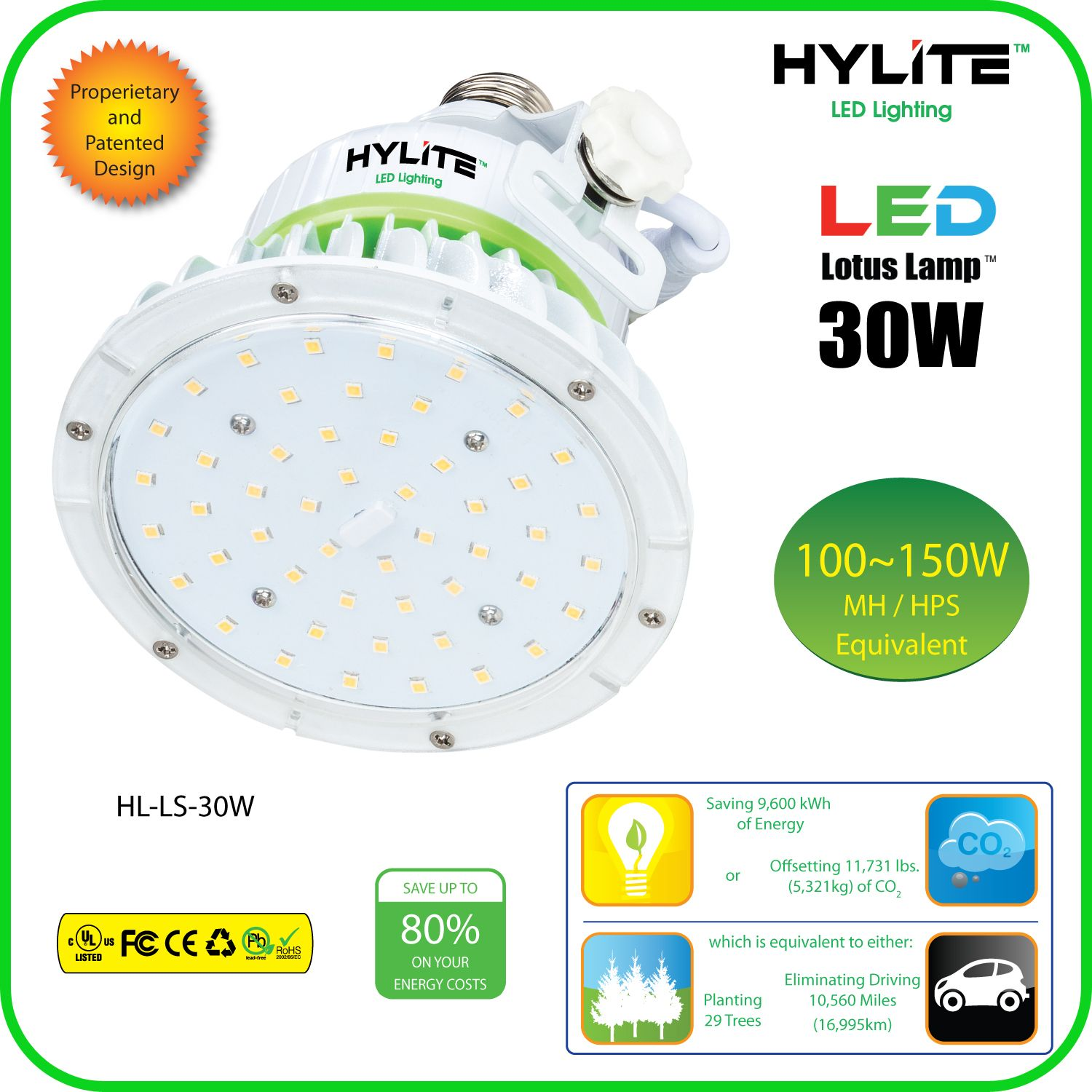30w Led Retrofit Lotus Lamp Hl Ls 30w E26 Hid Light Bulbs