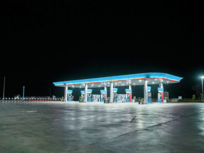 LED Canopy Lights for Gas Stations