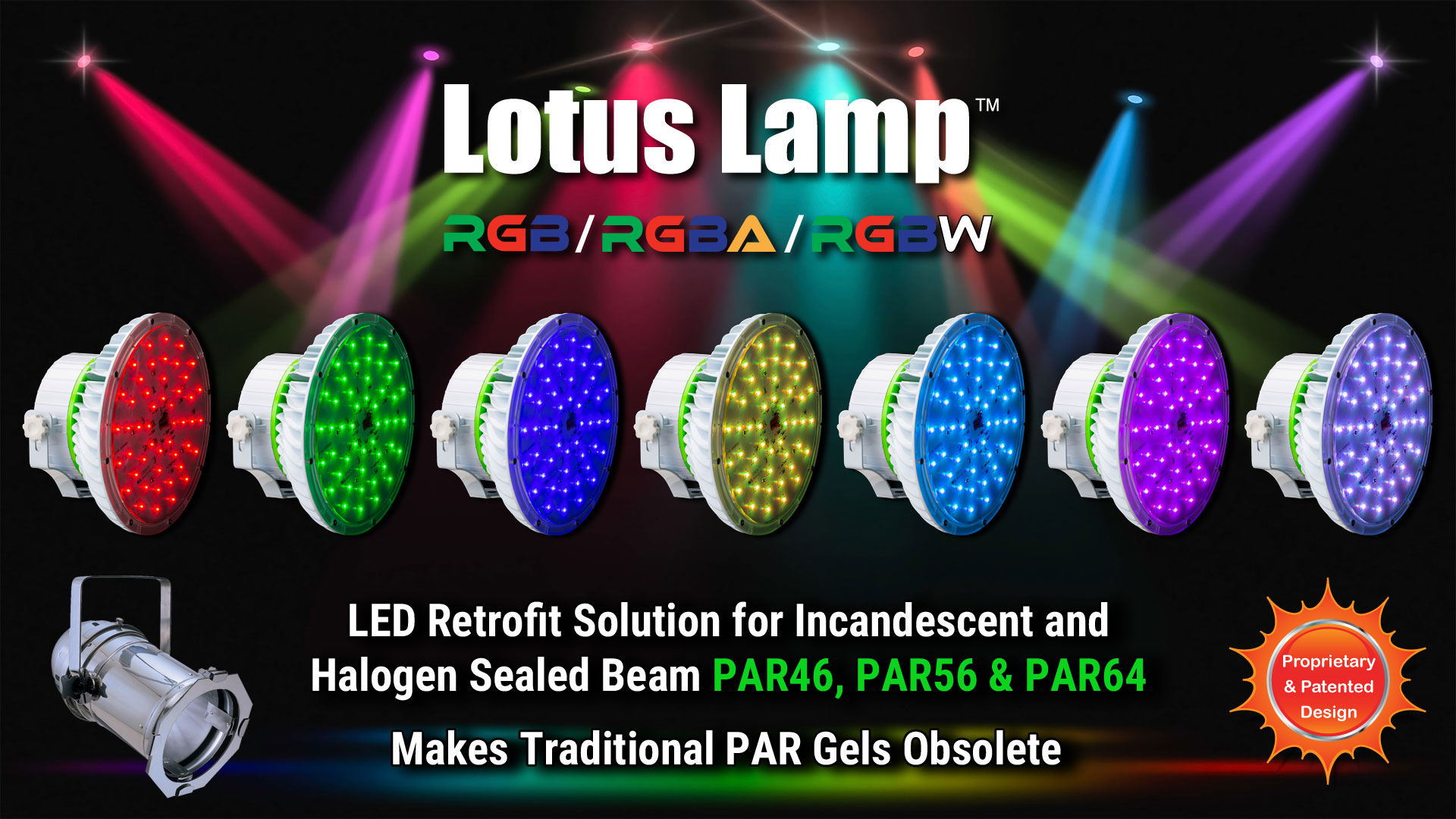 led par color lights